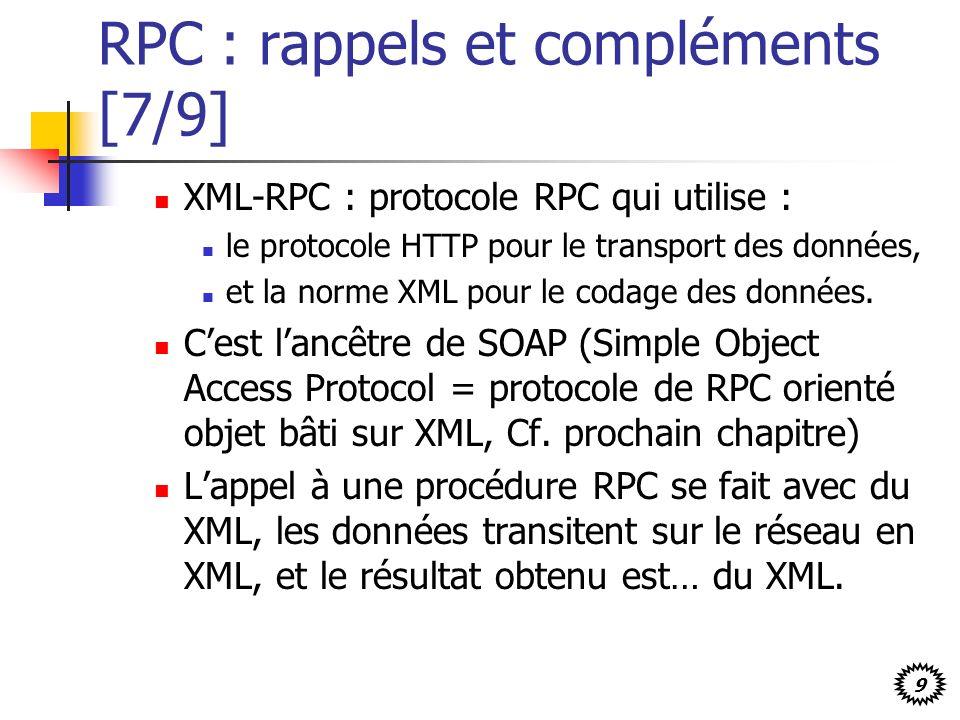 RPC : rappels et compléments [7/9]